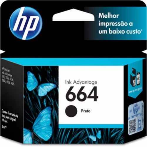 Cartucho HP Original 664 negro