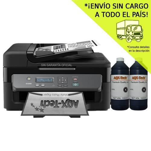 Impresora Multifuncion Epson Workforce Monocromática M205 Wifi + 2 Litros Tinta Aqx