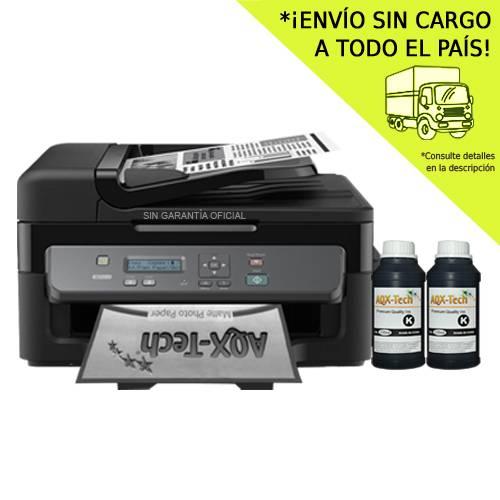 Impresora Epson Monocromo Multifuncion M205 Feeder Scanner Bandeja Alim Sistema Cont Orig + 500ml AQX-Tech Premium