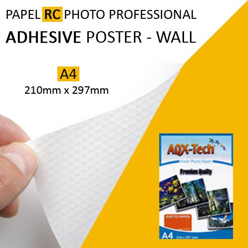 Papel Rc Foto Adhesivo Removible Poster Wall Premium A4 Aqx