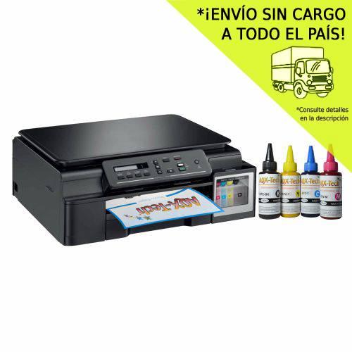 Impresora Multifunción Brother Dcp-T510w Wifi Sistema Original Escaner + Tinta SUBLIMACION Aqx-Tech x400ml