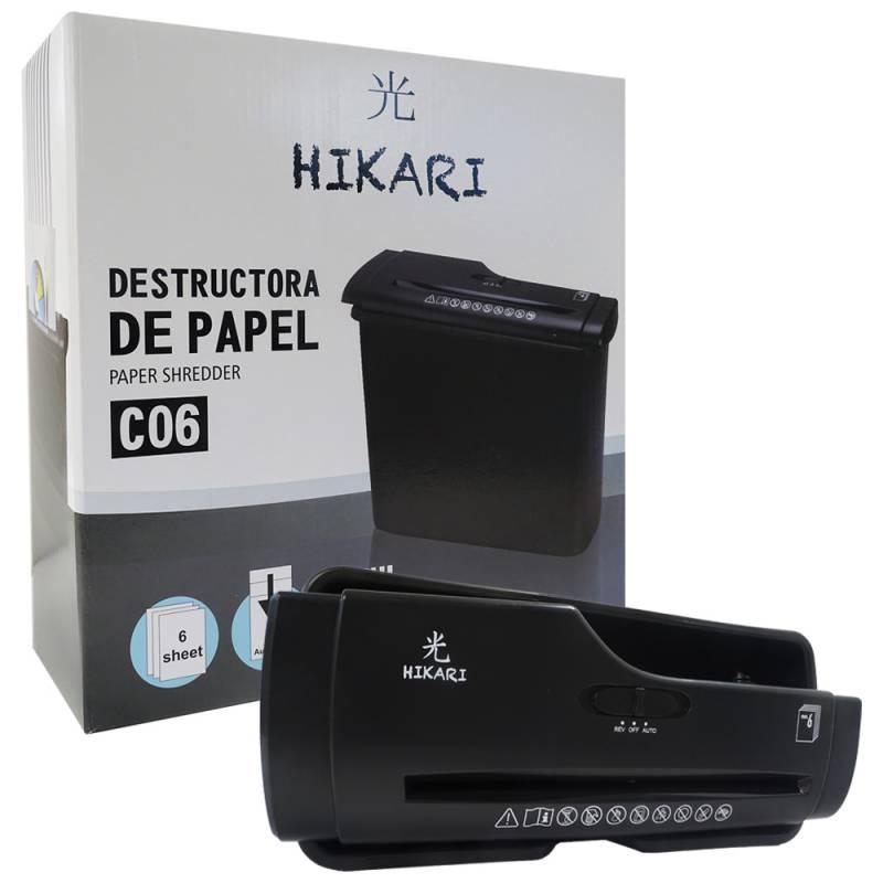 Destructora de Documentos Hikari C06 Corte en Tiras