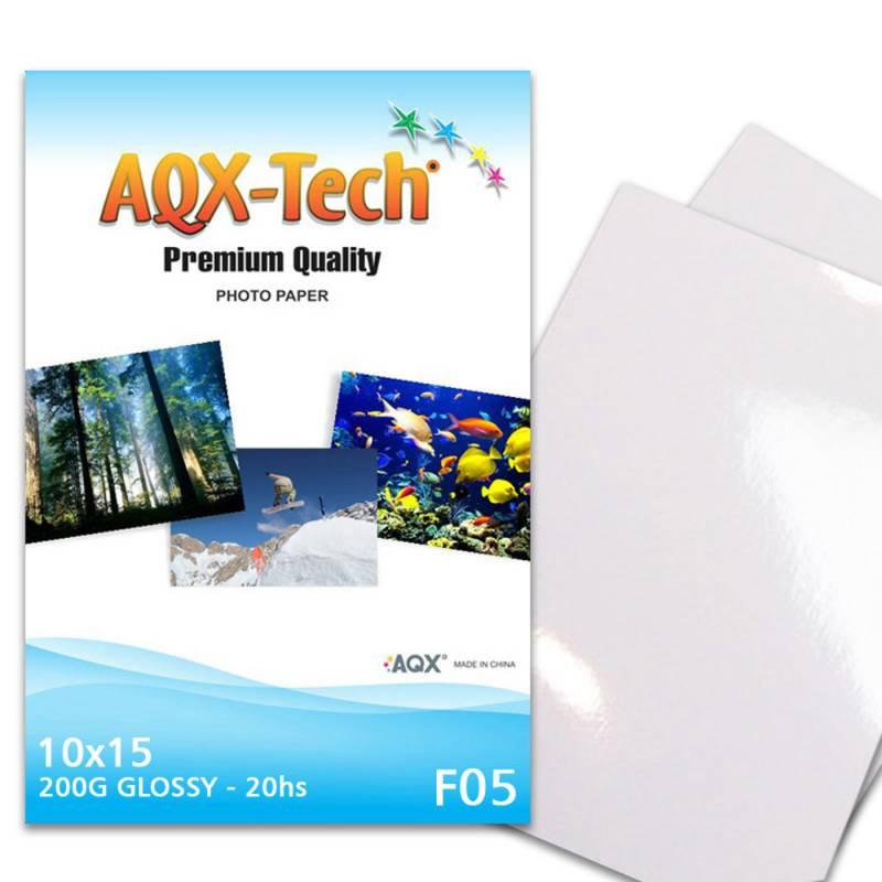 Papel Fotografico Glossy Brillante 10x15 200gr por 20 Hojas AQX F05