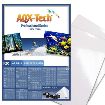 Papel Foto Pro Satinado RC A4 260grs por 20 Hojas AQX F20