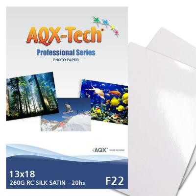 Papel Foto Pro Satinado RC 13x18 260grs por 20 Hojas AQX F22