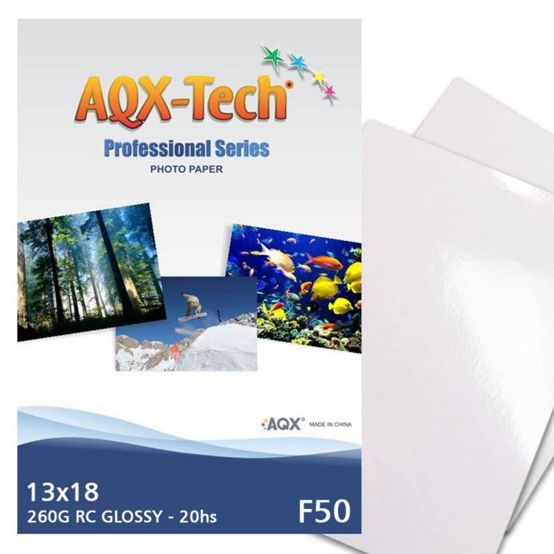 Papel Foto Pro RC Glossy Brillante Premium 13x18 260grs por 20 Hojas AQX F50