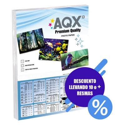 Papel Autoadhesivo Glossy Brillante A4 130grs por 100 Hojas AQX F91