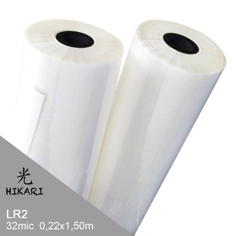 Film para Laminadora LR2 32mic Rollo 22cm x 150m