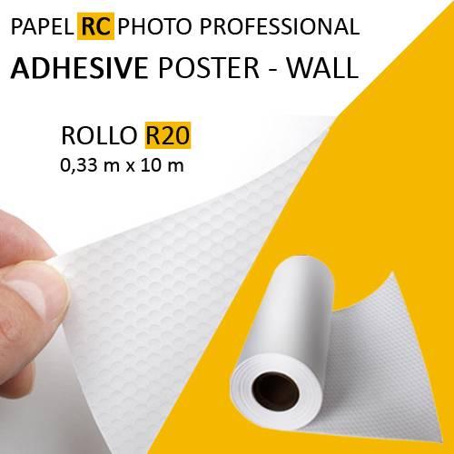 Rollo de Papel Rc Foto Adhesivo Removible Poster Wall Premium 0,33m x 10m Aqx