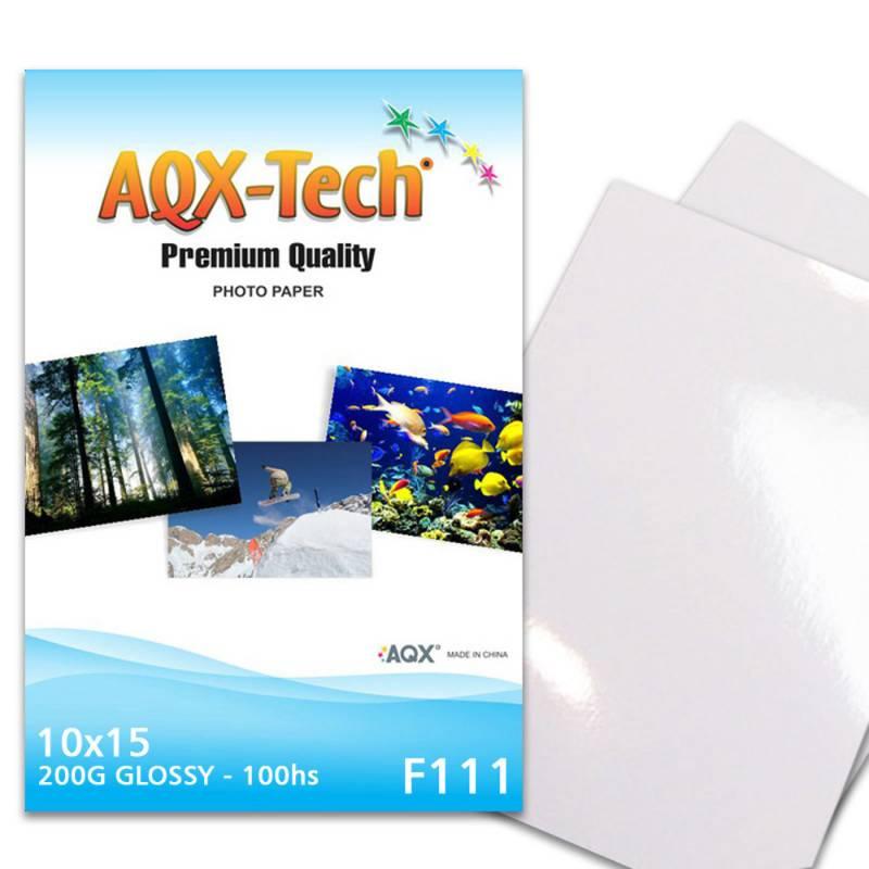 Papel Fotografico Glossy Brillante 10x15 200gr por 100 Hojas AQX F111