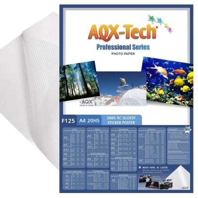 Papel Autoadhesivo Glossy Brillante Poster A4 por 20 Hojas AQX F125