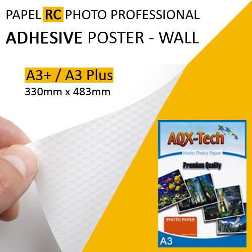 Papel Rc Foto Adhesivo Removible Poster Wall Premium A3+ Aqx