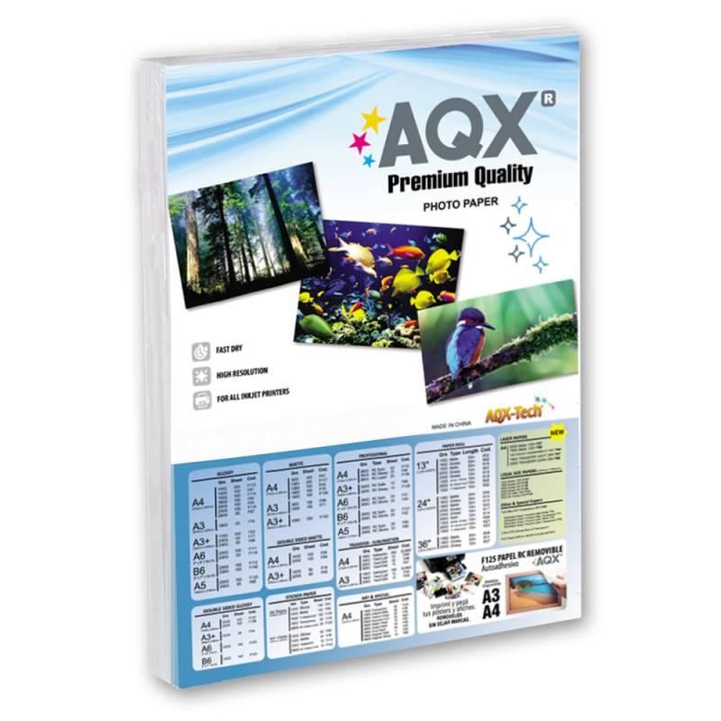Papel Foto RC Glossy Autoadhesivo A4 130grs por 20 Hojas AQX F157