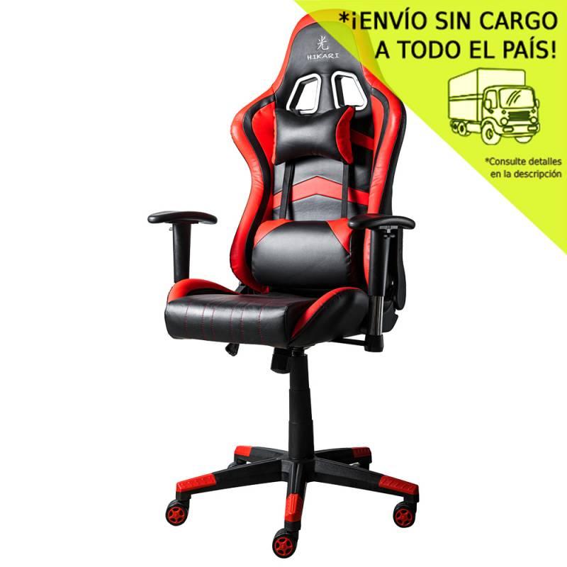 Silla de Oficina GM20 Negra con detalles en rojo - Mecanismo Mariposa