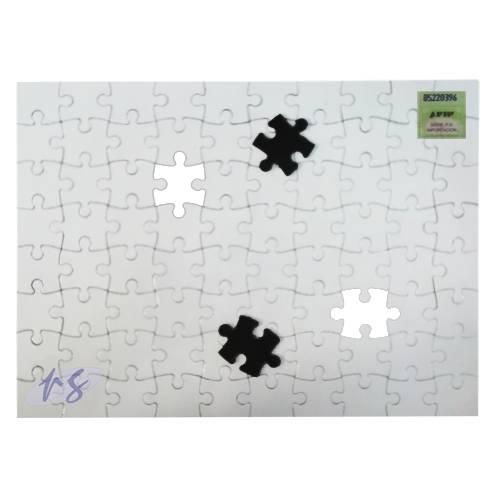Rompecabezas Magnetico Sublimable Blanco 14,5x20cm 80pc