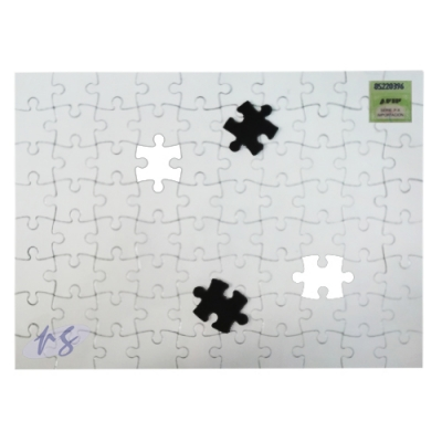 Rompecabezas Magnetico Sublimable Blanco 14,5x20cm 80pc