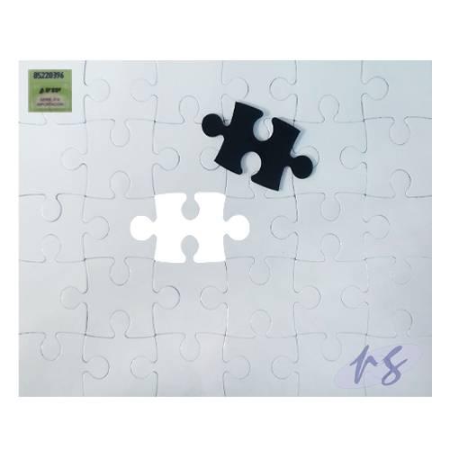 Rompecabezas Magnetico Sublimable Blanco 14,5x20cm 30pc