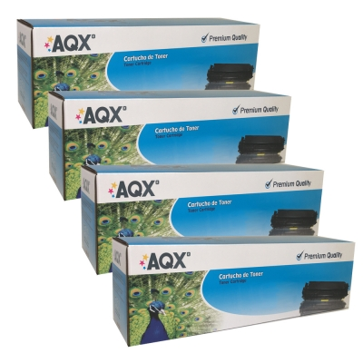 COMBO x 4 TONERS LASER AQX ALTERNATIVOS PARA HP 204a
