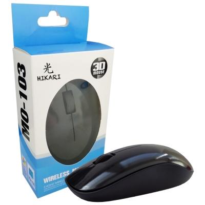 Mouse Hikari M103 NEGRO WIRELESS / INALAMBRICO
