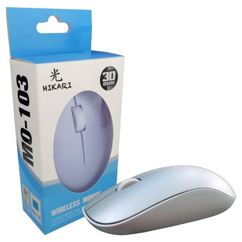 Mouse Hikari M103 PLATEADO WIRELESS / INALAMBRICO