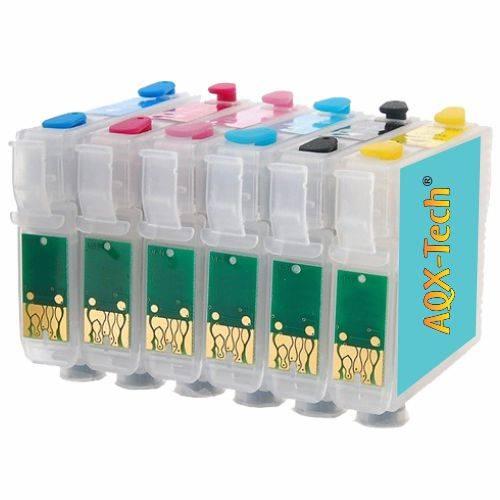 Cartuchos Recargables AQX Para Epson T50 / 1410 / 1430W / R290 / R270 / TX730