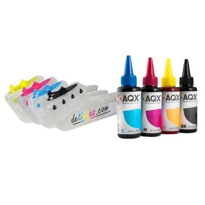 Cartuchos Recargables AQX Para HP 88 HP K550 K5400 K8600 + 400ml