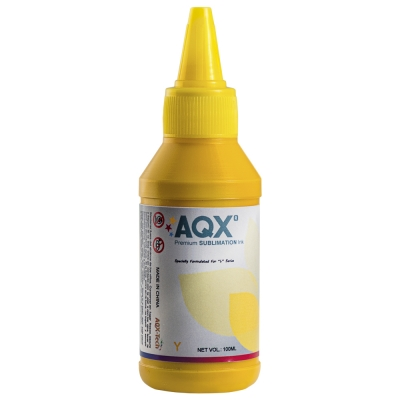 Tinta AQX de Sublimacion por 100ml Amarillo