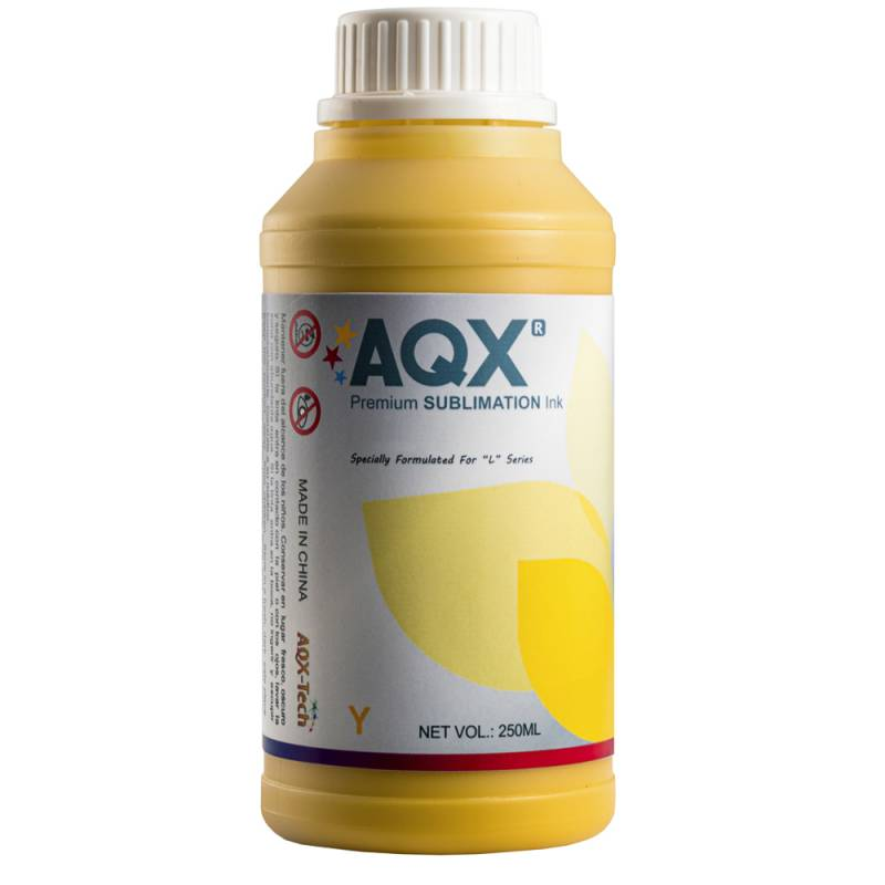 Tinta AQX de Sublimacion por 250ml Amarillo