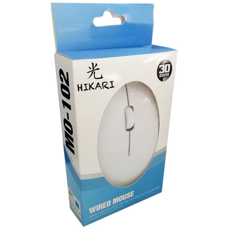 Mouse Hikari M102 BLANCO USB + Personalizado con Logo / Imagen
