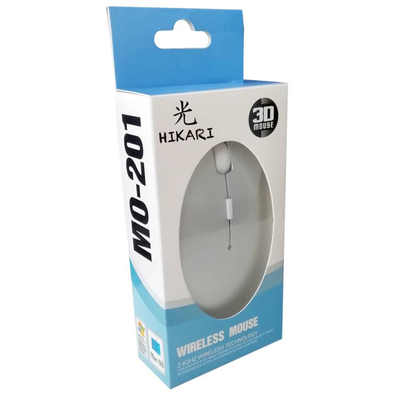 Mouse Hikari M201 PLATEADO WIRELESS / INALAMBRICO Personalizado con Logo / Imagen