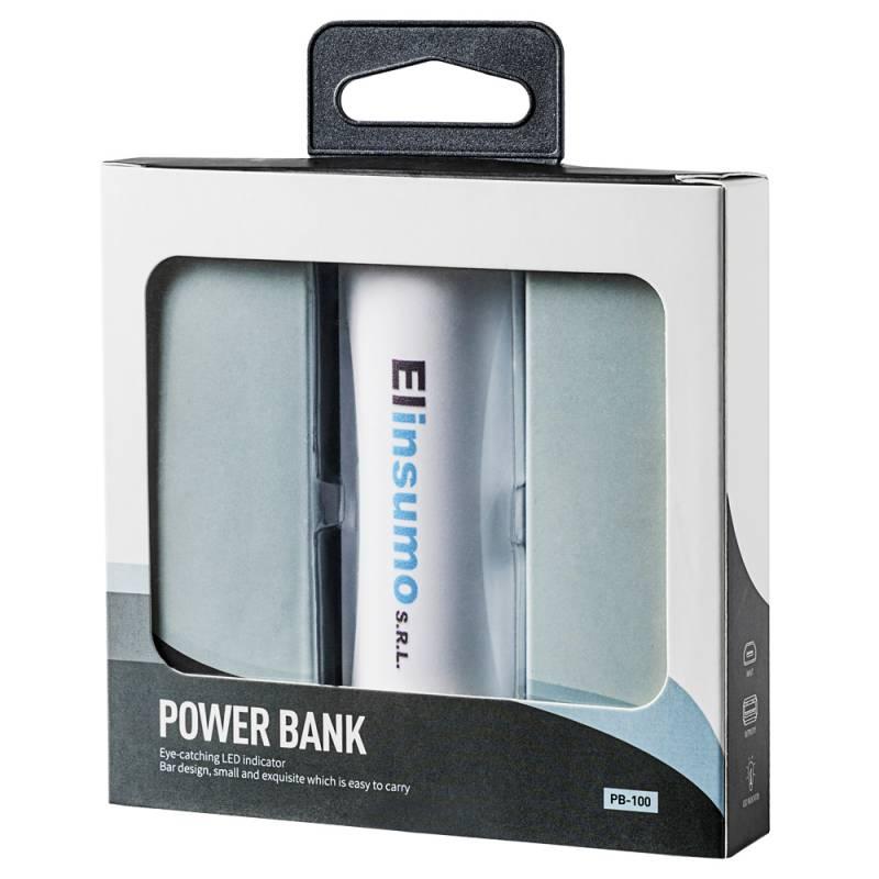 Power Bank Cargador Portatil Hikari Blanco 2200 mAh Carga Rapida Personalizado con Logo / Nombre