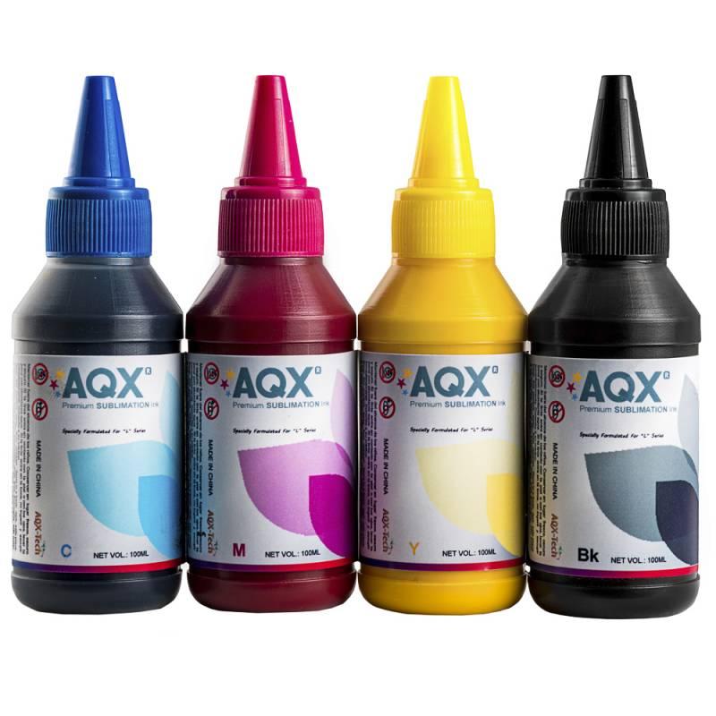 Tinta Pigmentada AQX 400ml Para Epson (100ml x4) Cod EP
