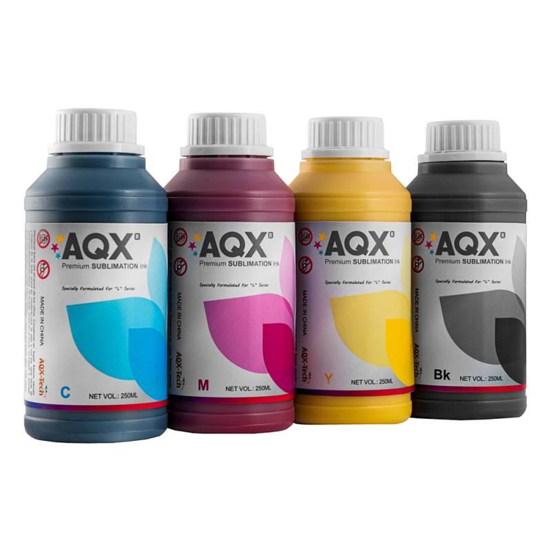 Combo Tinta Sublimacion Premium AQX-Tech por 1 litro (250ml x 4) Cod. EP2