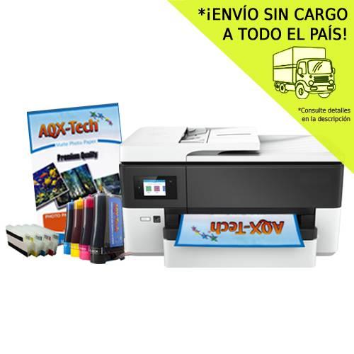 Impresora Multifuncion A3 HP 7720 Wifi Duplex Fax con Sist Continuo AQX