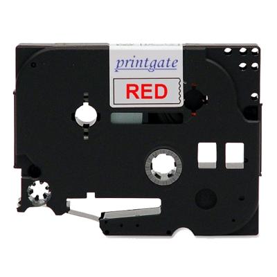 Cinta Rotuladora PG P/Brother TZE 232 Rojo s/ Blanco 12mm x 8m