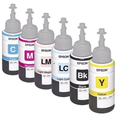 Tinta Original Epson x 6 botellas de 70ml Para L805 L810 L1800