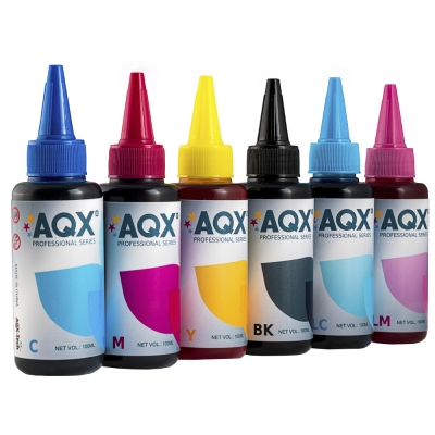 Combo Tinta Fotografica AQX-TECH Para Epson (6 x 100ML)