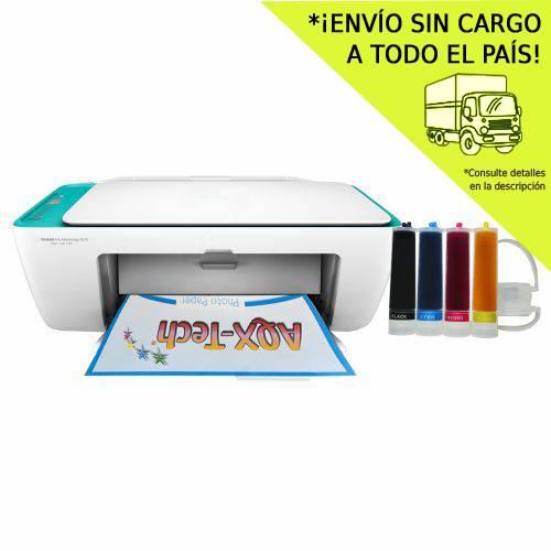 Impresora Multifuncion HP 2675 Wifi + Sist Continuo AQX 200ml