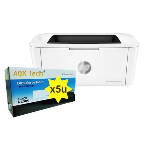 Impresora Laser HP M15W + 5 Toner 248a Sin Chip AQX