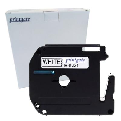 Cinta Rotuladora Printgate MK221 Negro s/ Blanco 9mm x 8m P/ Brother