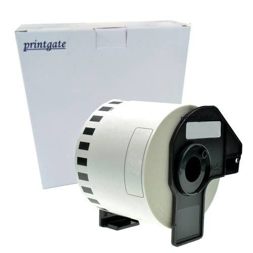 Cinta Rotuladora Printgate DK2205 Negro s/ Blanco 62mm x 30.48m P/ Brother