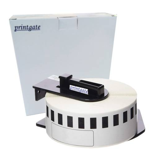 Cinta Rotuladora Printgate DK2210 Negro s/ Blanco 29mm x 30.48m P/ Brother