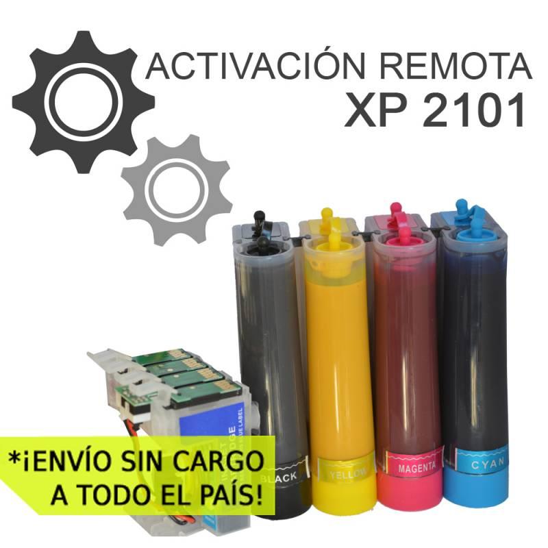 Sistema Continuo de Sublimacion Para Epson XP 2101 con Activacion Remota