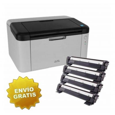 Impresora Laser Brother HL 1200 mas 4 Toner AQX (no incluye Toner Orig)