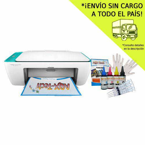 Impresora Multifuncion HP 2675 Wifi + Set Recargable AQX 400ml