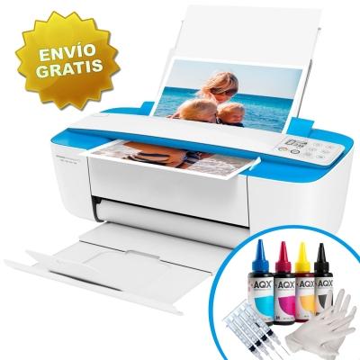 Impresora Hp Deskjet Ink Advantage Multifuncion 3775 Wifi + Kit de Recarga Alternativo AQX