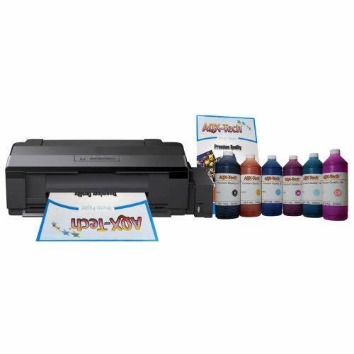 Impresora Epson A3 L1800 CD DVD Sist Cont Orig + Resma y 6 litros AQX-Tech Pro Ink