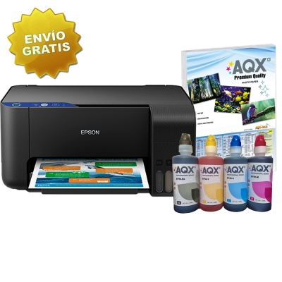 Impresora Epson L3110 Multifuncion Sistema Continuo Original + 1 LITRO TINTA AQX-Tech