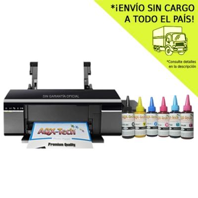 Impresora Sublimacion Epson L805 Sist Continuo Original + 600ml AQX Ink para Sublimar