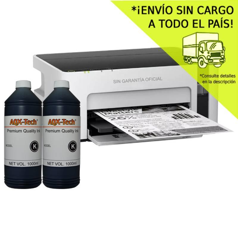 Impresora Epson Mono m1120 SC Orig. + Resma y 2000ml AQX-Tech Ink